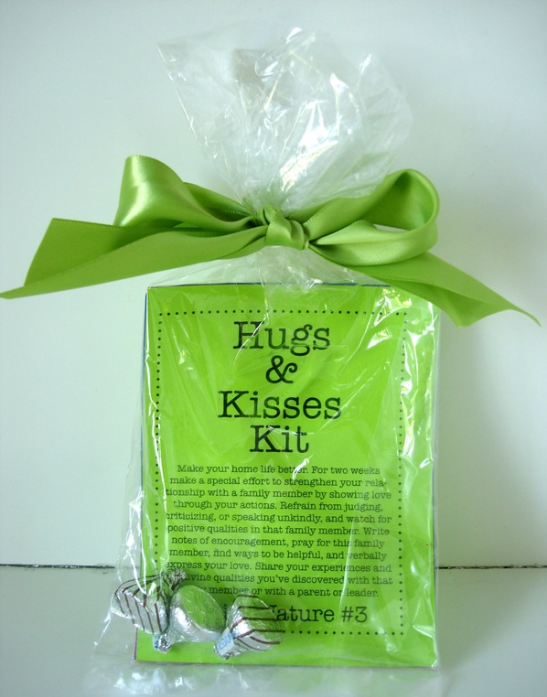 LDSNEST.COM Young Women Personal Progress Divine Nature #3 Hugs & Kisses Kit - Maybe use it for Father's Day