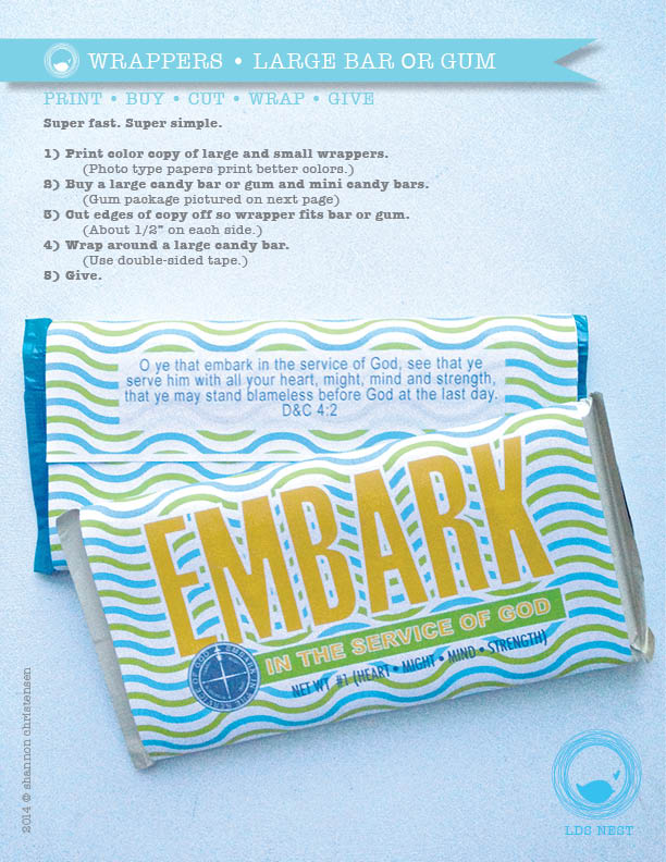DIY Printable YWYM Embark Candy & Gum Wrappers