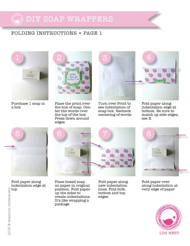 DIY Printable Soap Wrappers • Instructions
