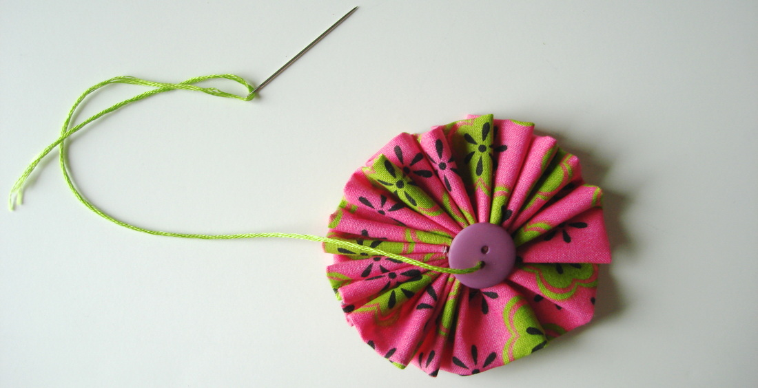 DIY Fabric Flower Craft with photo instructions