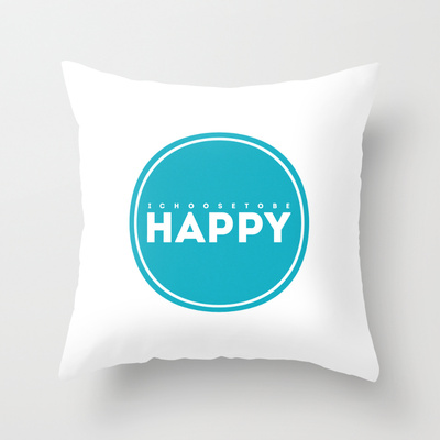 I choose to be happy pillow society6 LDS NEST