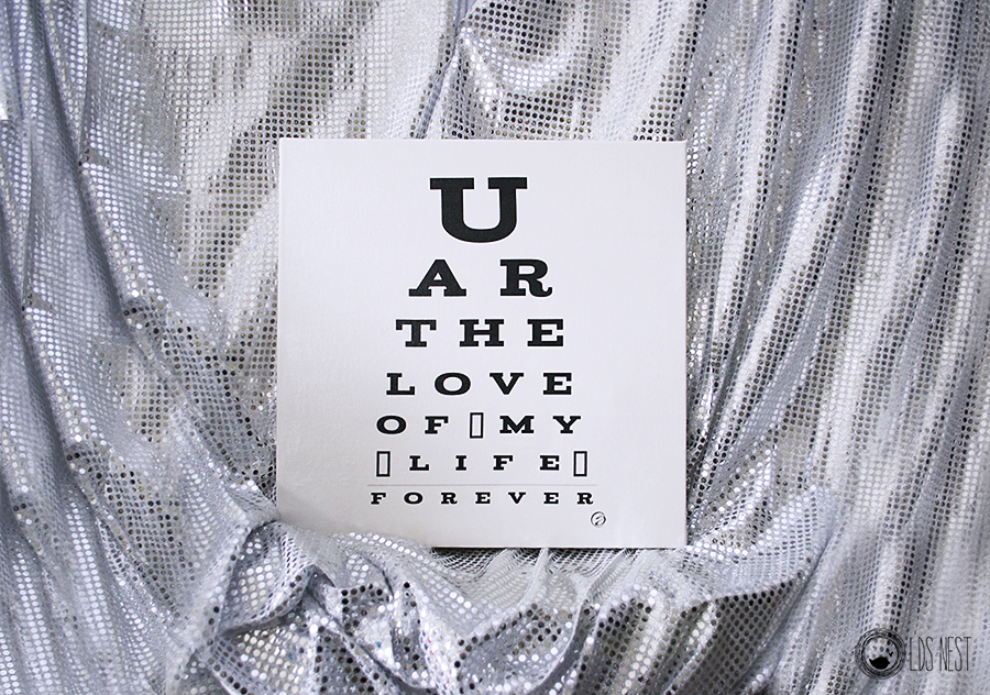 DIY Eye chart art from LDS NEST © Shannon Christensen for LDS NEST