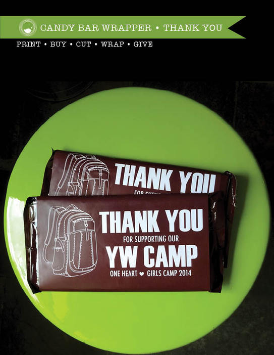 Candy Bar Wrapper Thank You • DIY Download