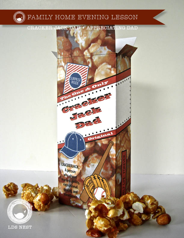 FHE Cracker Jack Dad Father's Day • LDSNEST.com