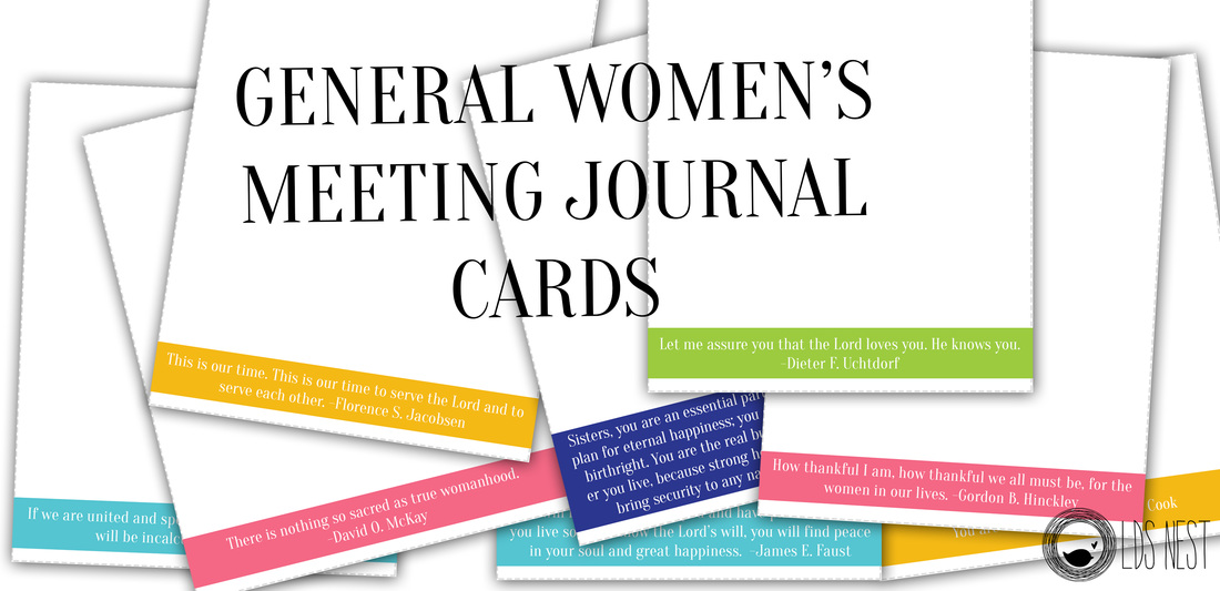 Journal cards from LDS NEST for the General Women's Meeting #womensmeeting #lds #ldsnest