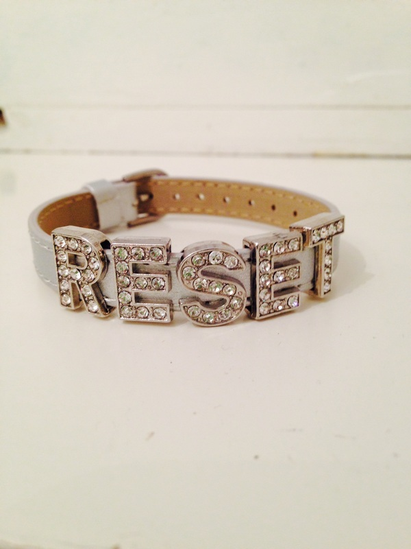 New Year's Resolution Word Reminder • RESET Bracelet