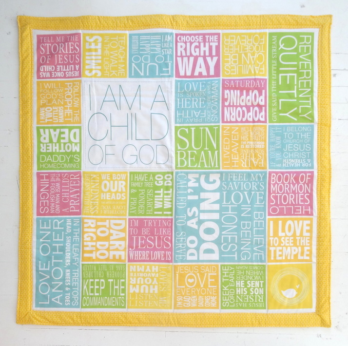 LDS NEST Primary Songs Sing • Along Quilt Panel