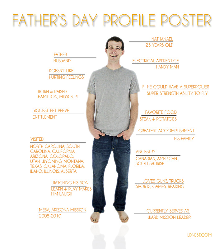 Father's Day gift idea: Profile poster from LDSNEST.COM