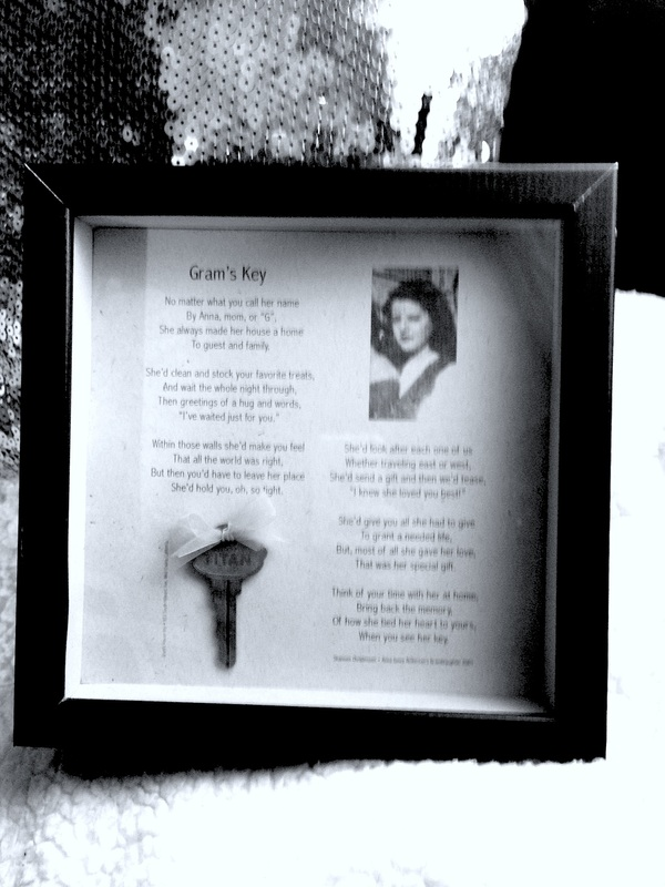 Poem about Anna Marie Jones  • Gram's Key